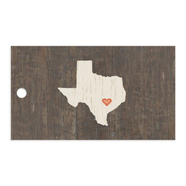 Custom State Wedding Gift Tag front