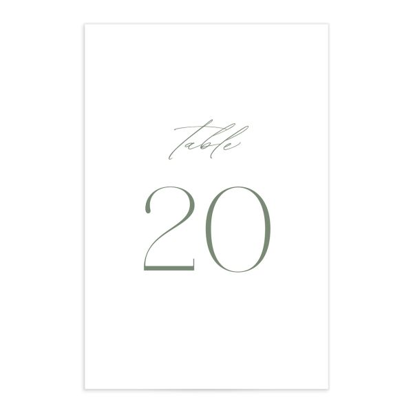 Classic Landscape table number vineyard green
