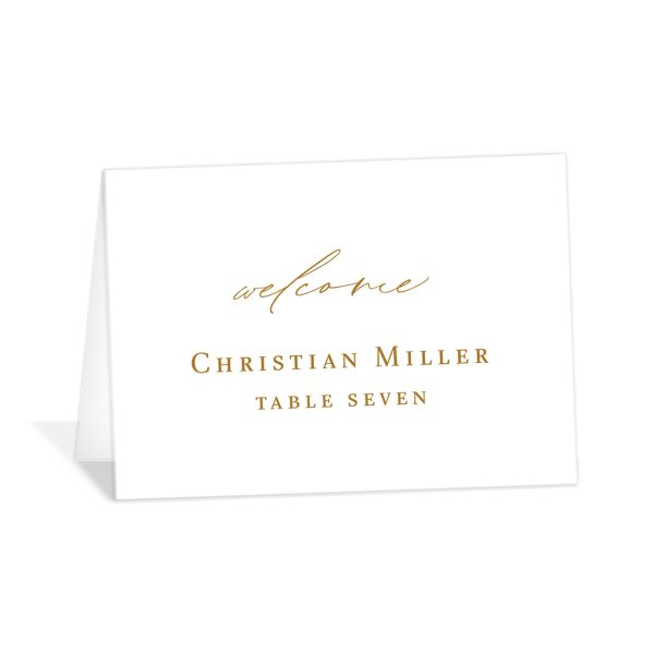 Classic Landscape catalog image place cards mustard