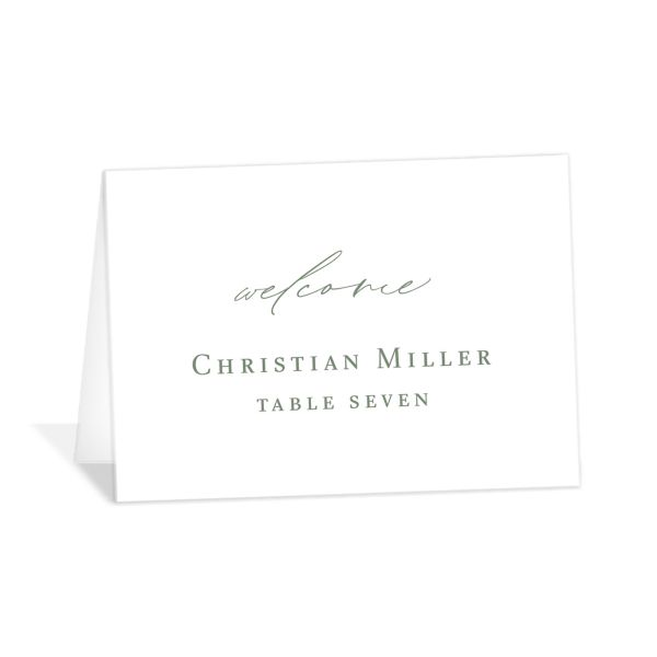 Classic Landscape catalog image place cards green