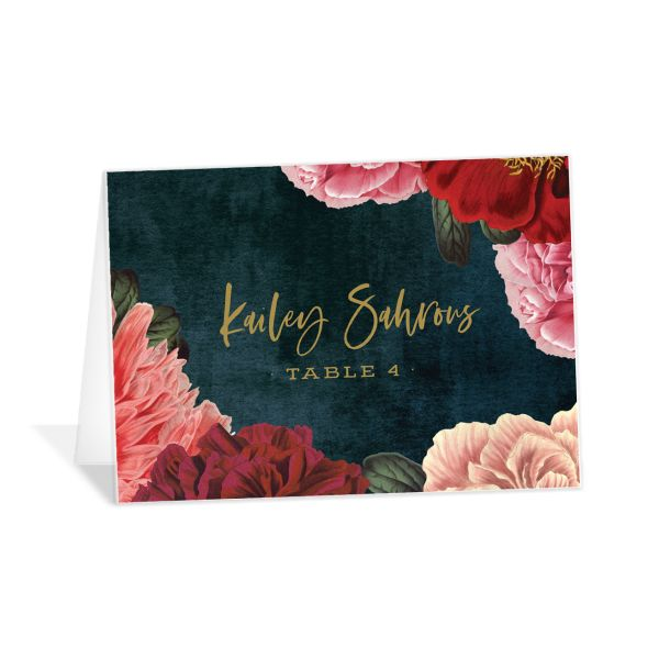 Midnight Peony Place Card front