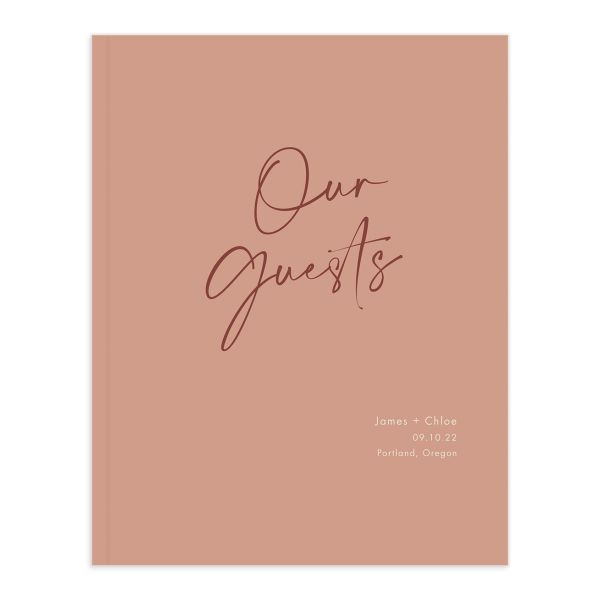 Simple Script Wedding Guest Book front