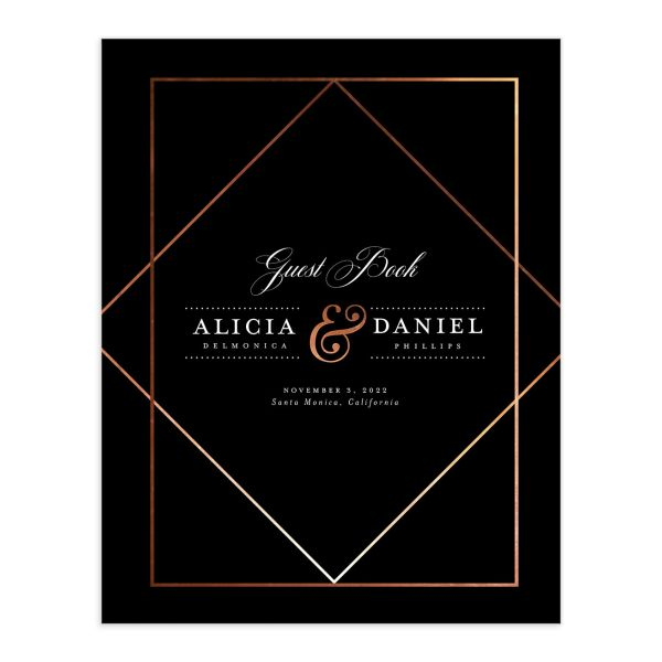 Formal Ampersand Wedding Guest Book black