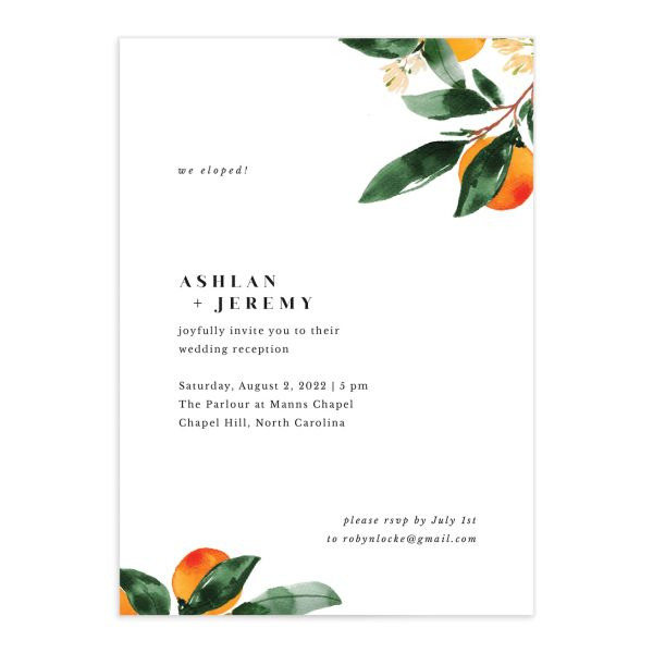 Orange Citrus Change the Date Card