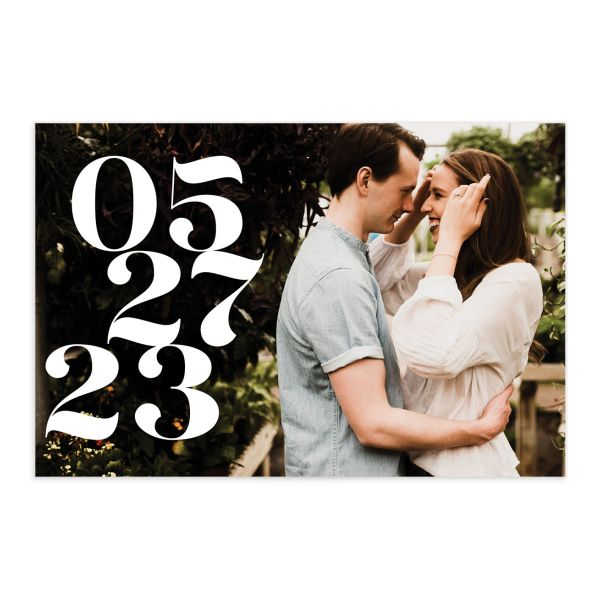 Modern Luxe Save the Date Postcard front