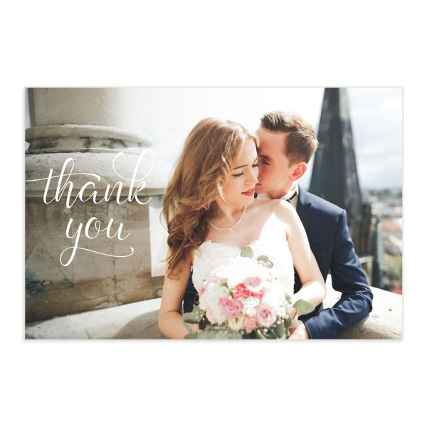 Romantic Succulents thank you post card front