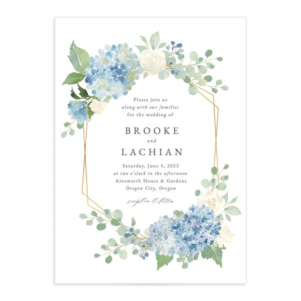 Elegant Hydrangea Wedding Invitations