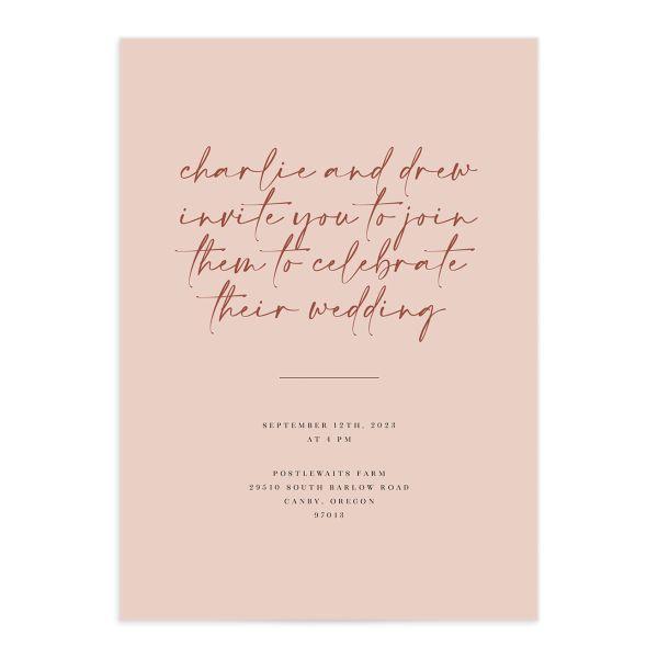 Romantic Bohemian Wedding Invitations