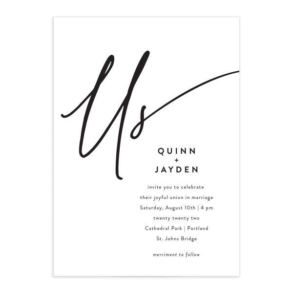 Simply Us Wedding Invitations