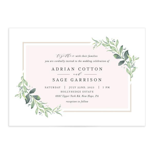 Classic Greenery Wedding Invitations
