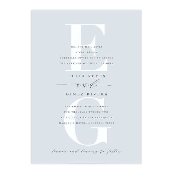 Monogram Wedding Invitation front