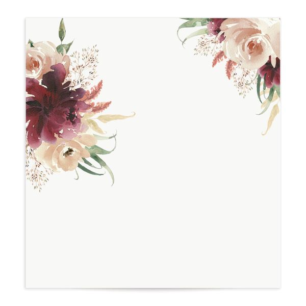 Floral Wreath envelope liner