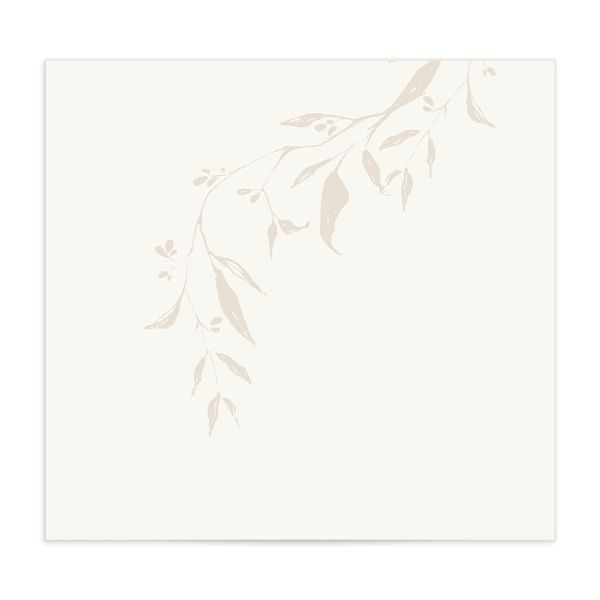 Rustic Minimal Envelope Liner in cream