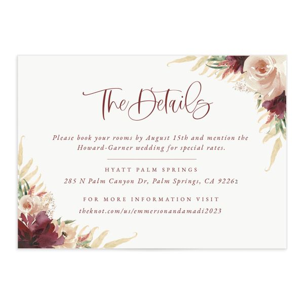Floral Wreath enclosure card front