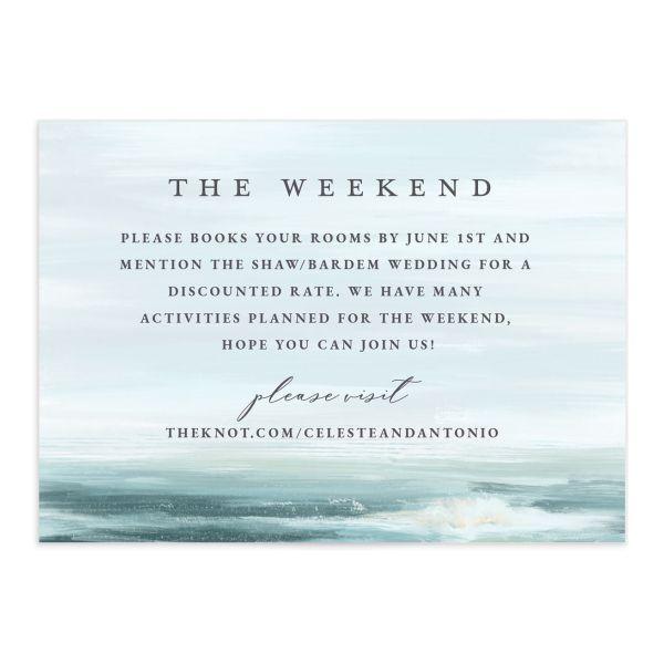 Painted Beach Wedding Enclosure Cards