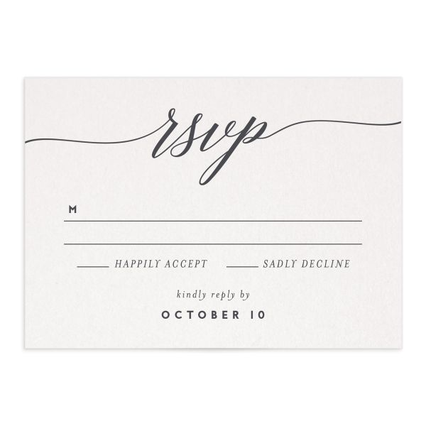 We Do Wedding Response Card front grey