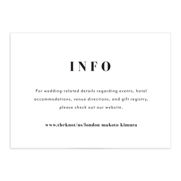Modern Bodoni Enclosure Card front