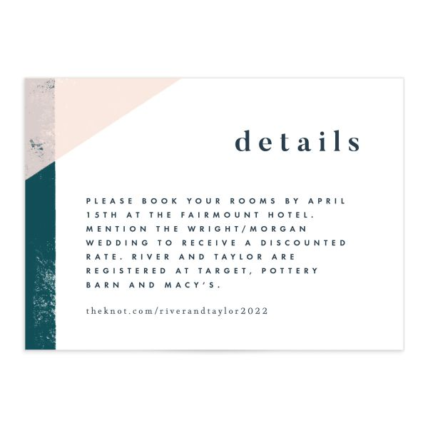 Modern Colorblock Enclosure Card front in teal