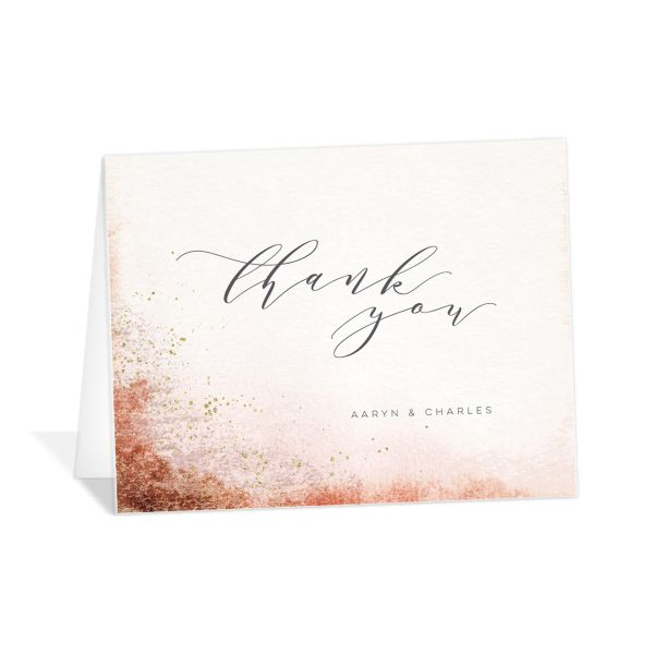 Organic Luxe Thank You Card front orange