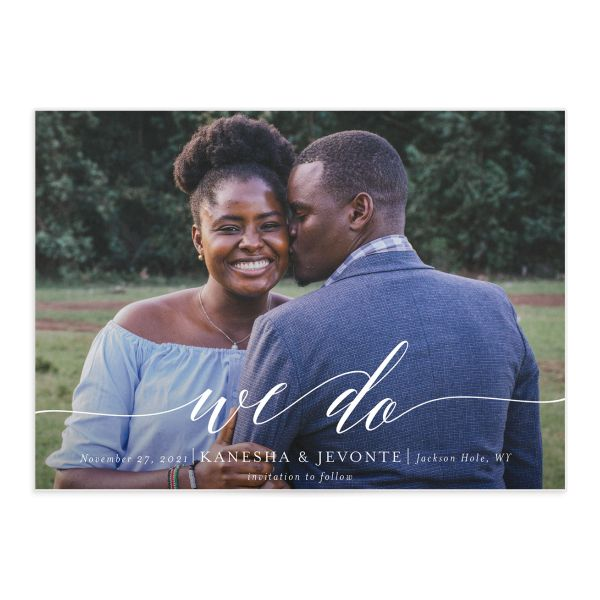 Scripted We Do Save the Date card front