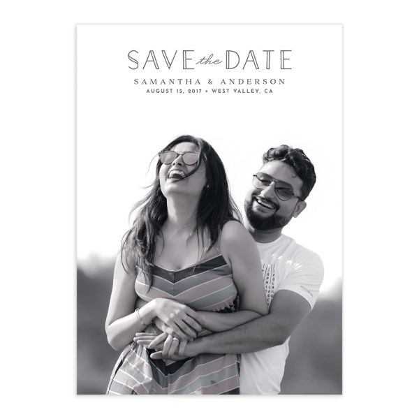 Romantic Garland Save the Date Card front