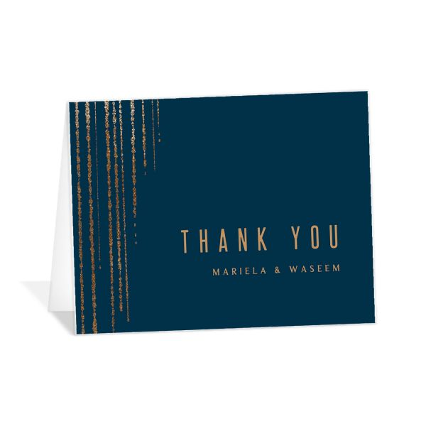 Classic Cascade Thank You Card front in navy