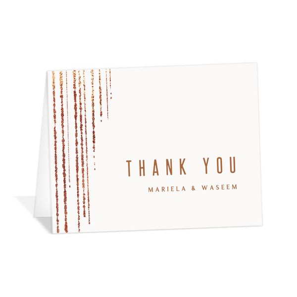 Classic Cascade Thank You Card front in white