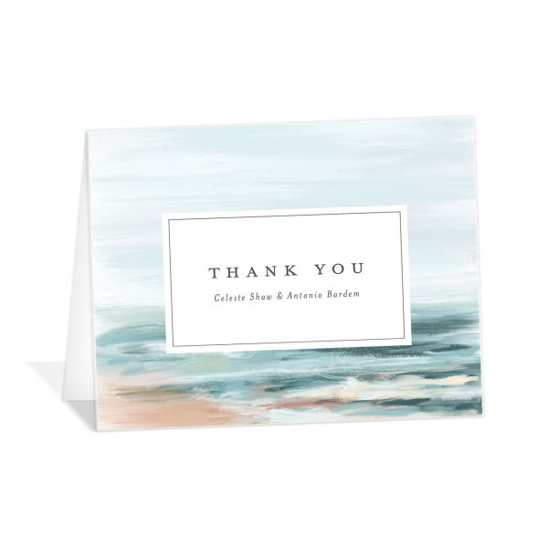 Painted Beach Thank You Cards
