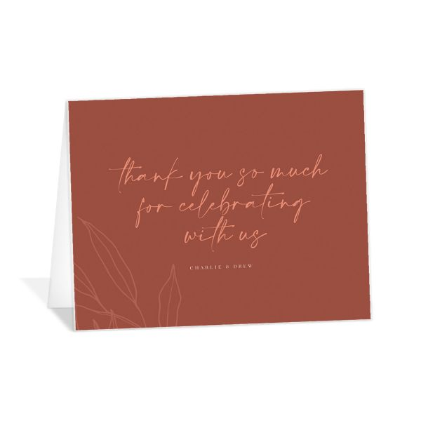 Romantic Bohemian thank you card