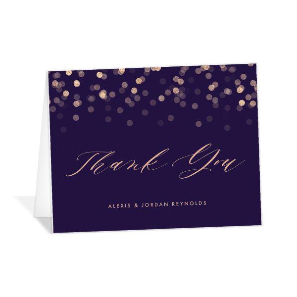 Elegant Glow Thank You Cards