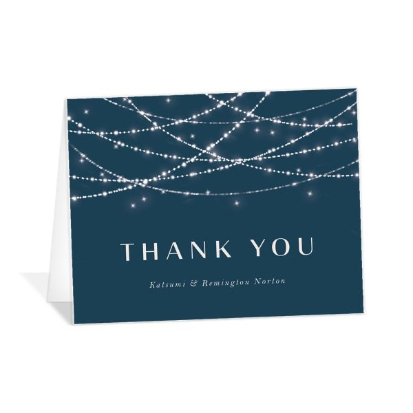 Elegant Lights Thank You Card front
