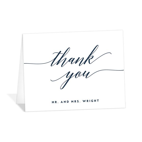 We Do Wedding Thank You Card front blue