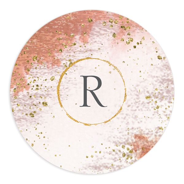 Organic Luxe Round Sticker orange