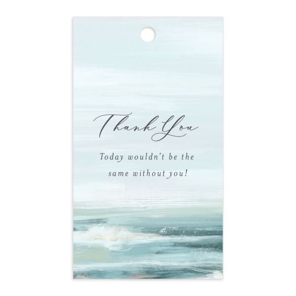 Painted Beach gift tag front