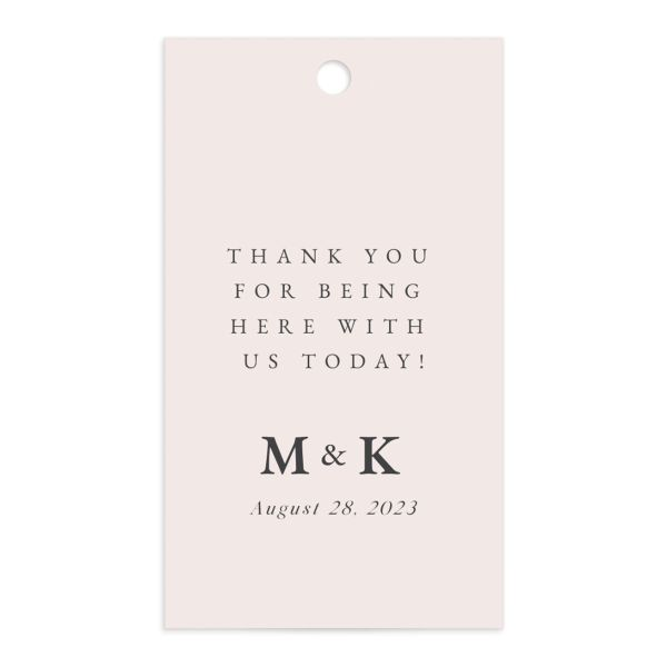 Romantic Wisteria Favor Gift Tag front in pink