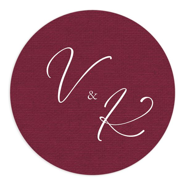 Beloved Floral Wedding Sticker in red