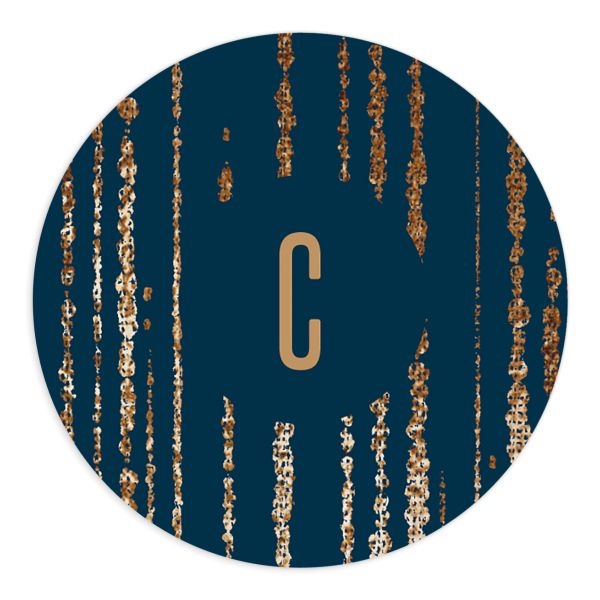 Classic Cascade Wedding Stickers in navy