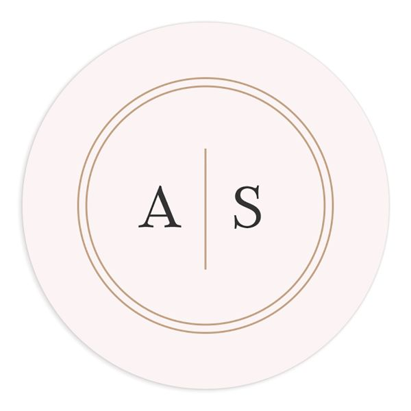 Classic Greenery Wedding Sticker in pink