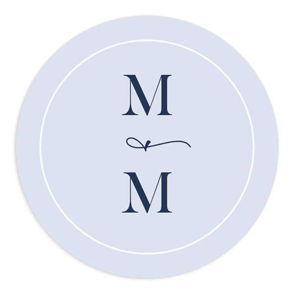Shades of Blue Wedding Round Sticker