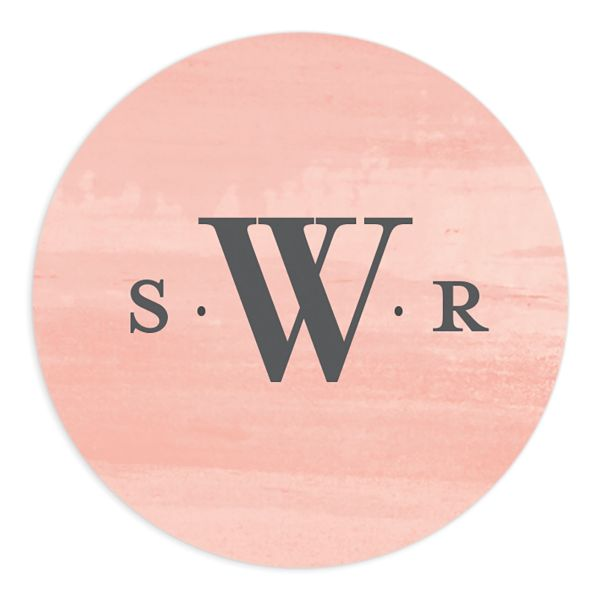 Wild Wreath Round Sticker front pink