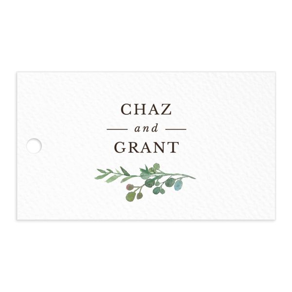 Leafy Hoops Favor Gift Tag front
