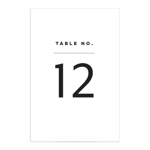 Garden Picnic Wedding Table Number front in black