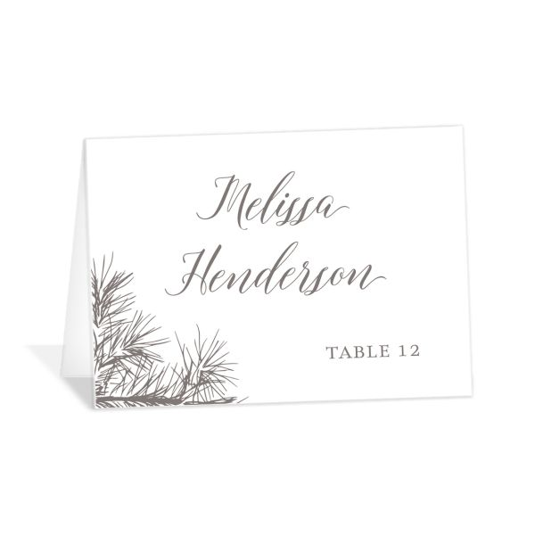Winter Fir table place card brown