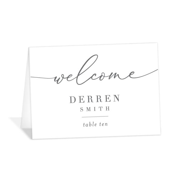 Romantic Calligraphy Place Card front