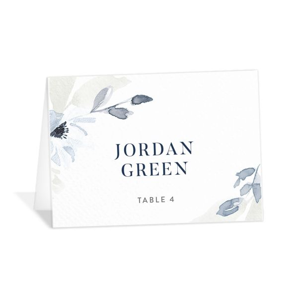 Shades of Blue Place Card front