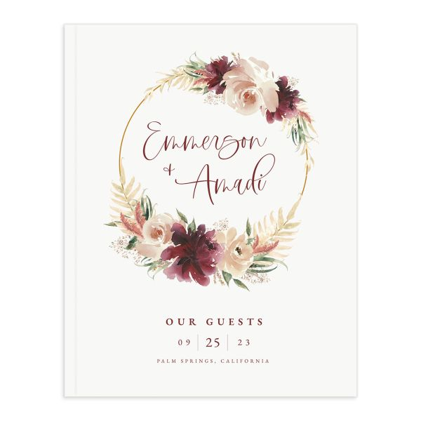 Floral Wreath guest book