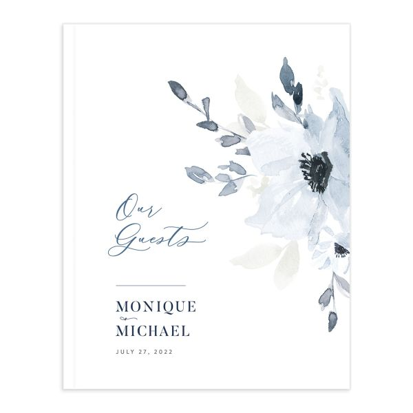 Shades of Blue Wedding Guest Book front