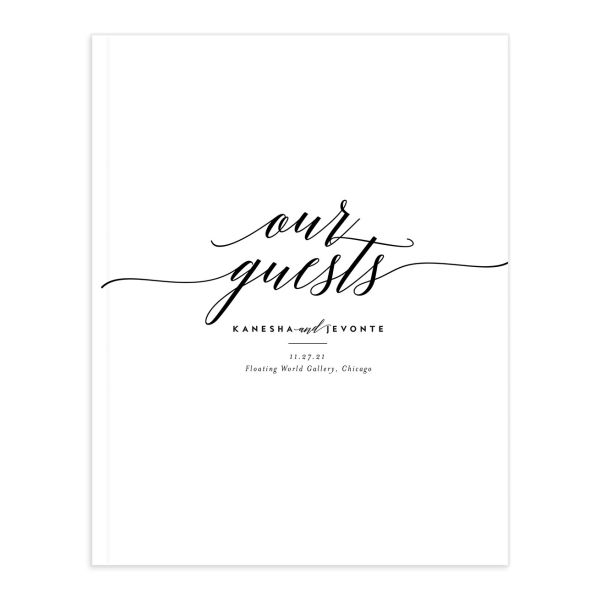 We Do Wedding Guest Book front black