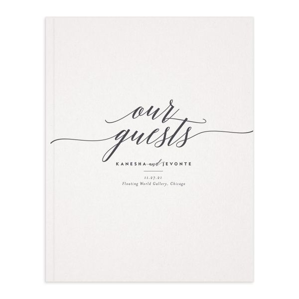 We Do Wedding Guest Book front grey