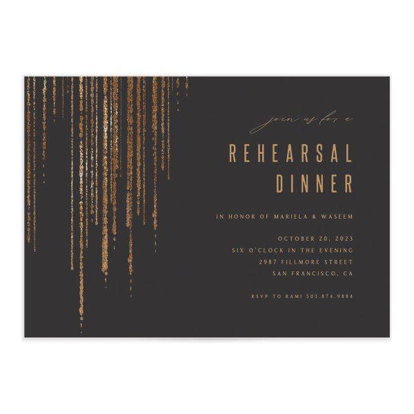 Classic Cascade Rehearsal Dinner Invitations